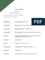 MDchat Transcript October 19, 2011