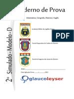 Provas Modelo D Matemática, Geografia-História e Inglês Brasilia