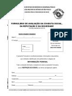 Formulario de Avaliacao Da Conduta Social FACSRI 15JAN20