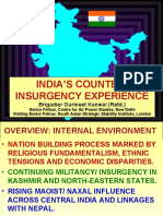 India's Counter Insurgency Experience