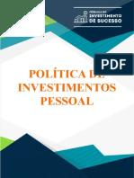 Minha Política de Investimentos Pessoal