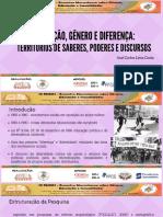 EDUCAÇÃO, GÊNERO E DIFERENÇA_ TERRITÓRIOS DE SABERES, PODERES E DISCURSOS