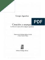 Agamben Giorgio - Creacion Y Anarquia