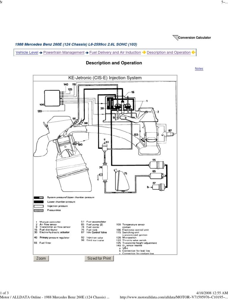 Bosch Ke Jetronic System Description Fuel Injection Technology Engineering
