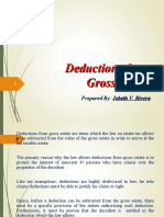Deductions From Gross Estate