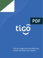 Guia de configuracion del celular como MODEM Sony Ericsson J105 Naite