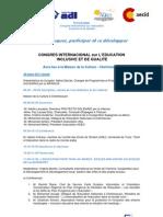 Programme Congres Education Inclusive Qualite Chefchaouen 28 marzo 2011