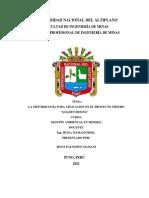 La metodología FODA en el proyecto minero