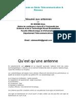 Résumé Cours d'Antennes Licence2GTR 2020