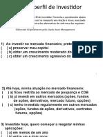 PERFIL DO INVESTIDOR - TESTE O SEU