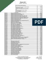 PHYWE 2011 liste de prix