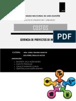 Gerencia de Proyectos de Inversion Publica - Costos