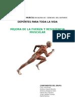mejora de la fuerza y resistencia muscular