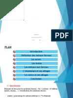 Résumé de Métaux Ferreux PDF