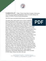 CU v. State Dept. Lawsuit - Wuhan Lab Leak Theory