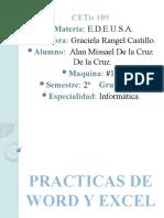 PRACTICAS DE WORD Y EXCEL