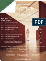 OSHO Active Meditation Workshop Toronto Flyer April