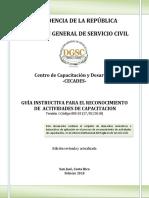 INS-03 GUÍA INSTRUCTIVA  Reconocimiento de actividades capacitación VF