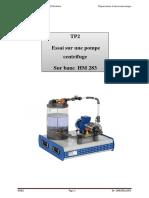 TP_2_ Essai sur une pompe centrifuge