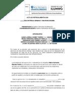 ACTA DE RETROALIMENTACION 1