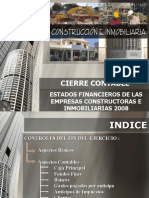 Cierre Contable Construccion 2008