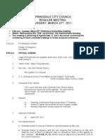 Springdale Council Agenda 03-22-11