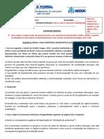 Atividade 9º A BRASIL UMA EXPERIENCIA DEMOCRÁTICA 20ª semana