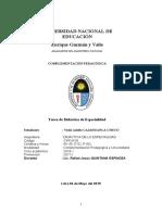 Cajahuanca Didáctica de Especialidad Tarea