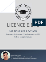 Pack 101 Fiches de Révision - Licence-eea.fr