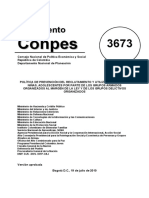 Conpes 3673 Politica de Prevencion Del Reclutamiento y Utilizacion de Ninos Ninas Adolescentes m3u2