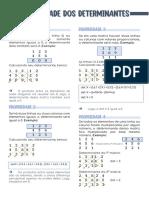 Matemática - propriedade dos determinantes