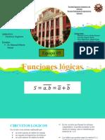 Funciones logicas y compuertas logicas