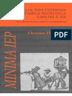 LASMANUELOS, VIDA COTIDIANA DE UNA FAMILIA NEGRA EN LA LIMA SIGLO 19