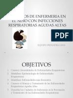 CUIDADOS DE ENFERMERIA EN NIÑOS CON IRA ALTAS parte I
