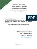 Evaluación III. Estrategias para prevenir y atenuar la violencia escolar. Politólogo Rohmer Rivera.