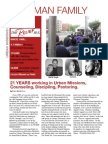 Calvary Newsletter of The Hoffman Family Urban Missions Update