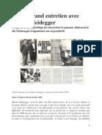 Grand entretien avec Martin Heidegger. L'Express du 20 octobre 1969.