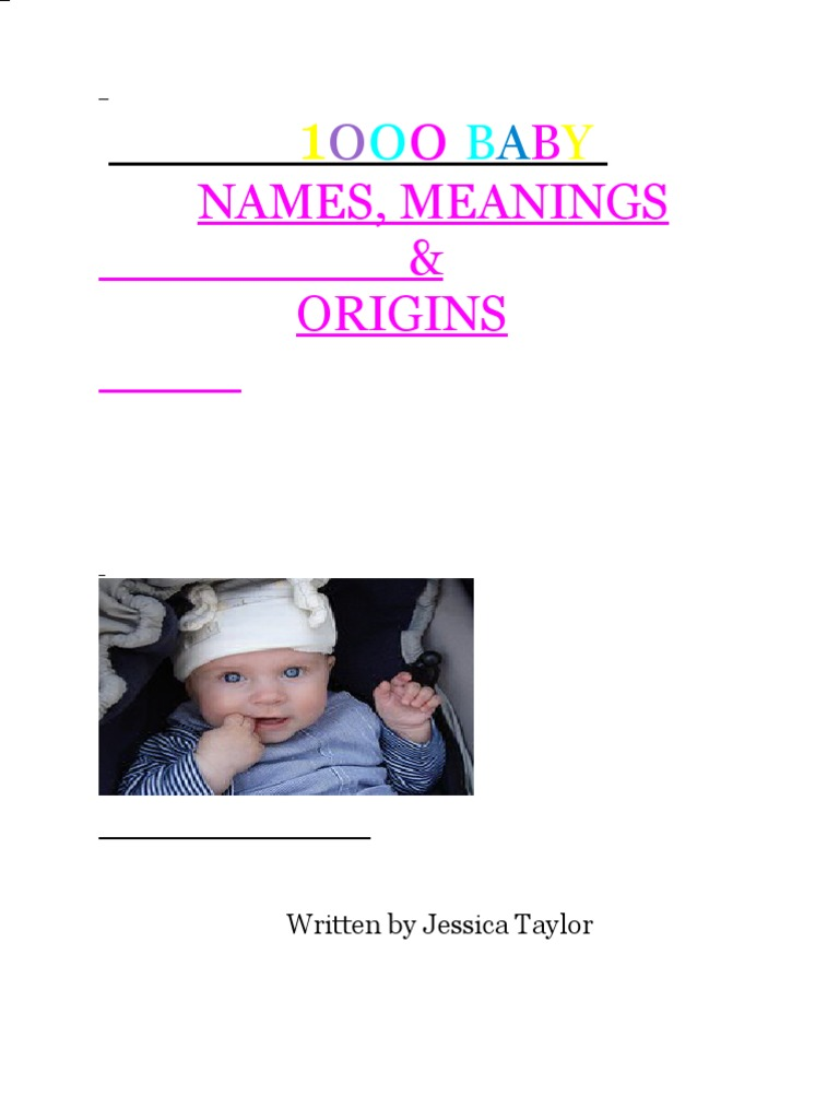 1000 Baby Names,Meanings and Origins PDF | Nature | Free ...