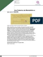Svelata lettera di Federico da Montefeltro a 600 anni dalla nascita - Ansa.it, 21 giugno 2021