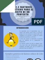 3.2.2 FACTORES CRITICOS PARA EL ÉXITO DE UN PROYECTO