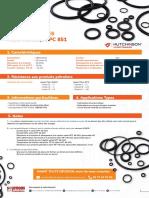 Fiche Technique - Joints Toriques PC851