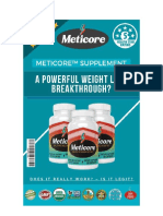 Meticore Supplement Review - A Powerful Weight Loss Breakthrough?