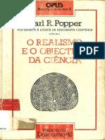 Popper, Karl - O Realismo e o Objectivo Da Ciência [Ed.dom Quixote] [POR]