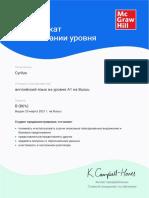 My certificate (B) English