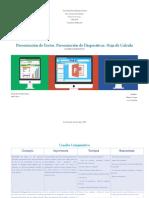 Cuadro Comparativo Procesador de textos, presentación de diapositivas y hoja de cálculo