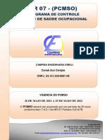 Segurança - Pcmso Campina Engenharia 2021 2022
