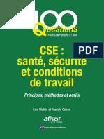 SST_Santé, Sécurité Et Conditions de Travail – Principes, Méthodes Et Outils