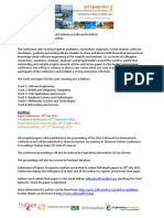 Call for Papers - 2011 SoftwareFirst International Conference