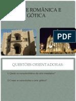 O românico e o gótico