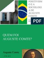 O Positivismo e Auguste Comte